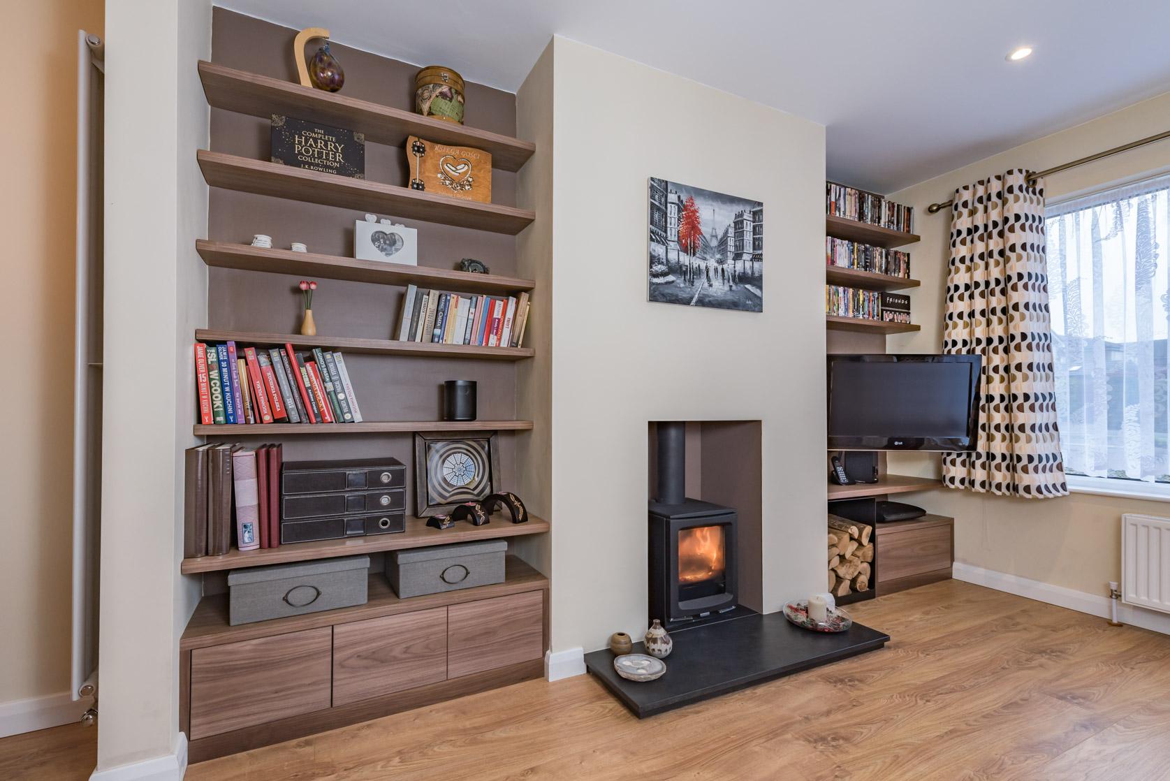 Alcove shelf design
